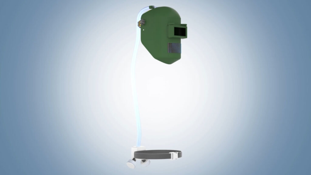 Solar-Powered Air Delivery System for a Welder's Mask
